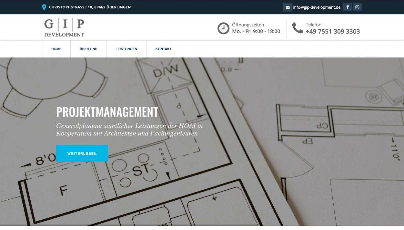 Responsive Webseite - GIP Development