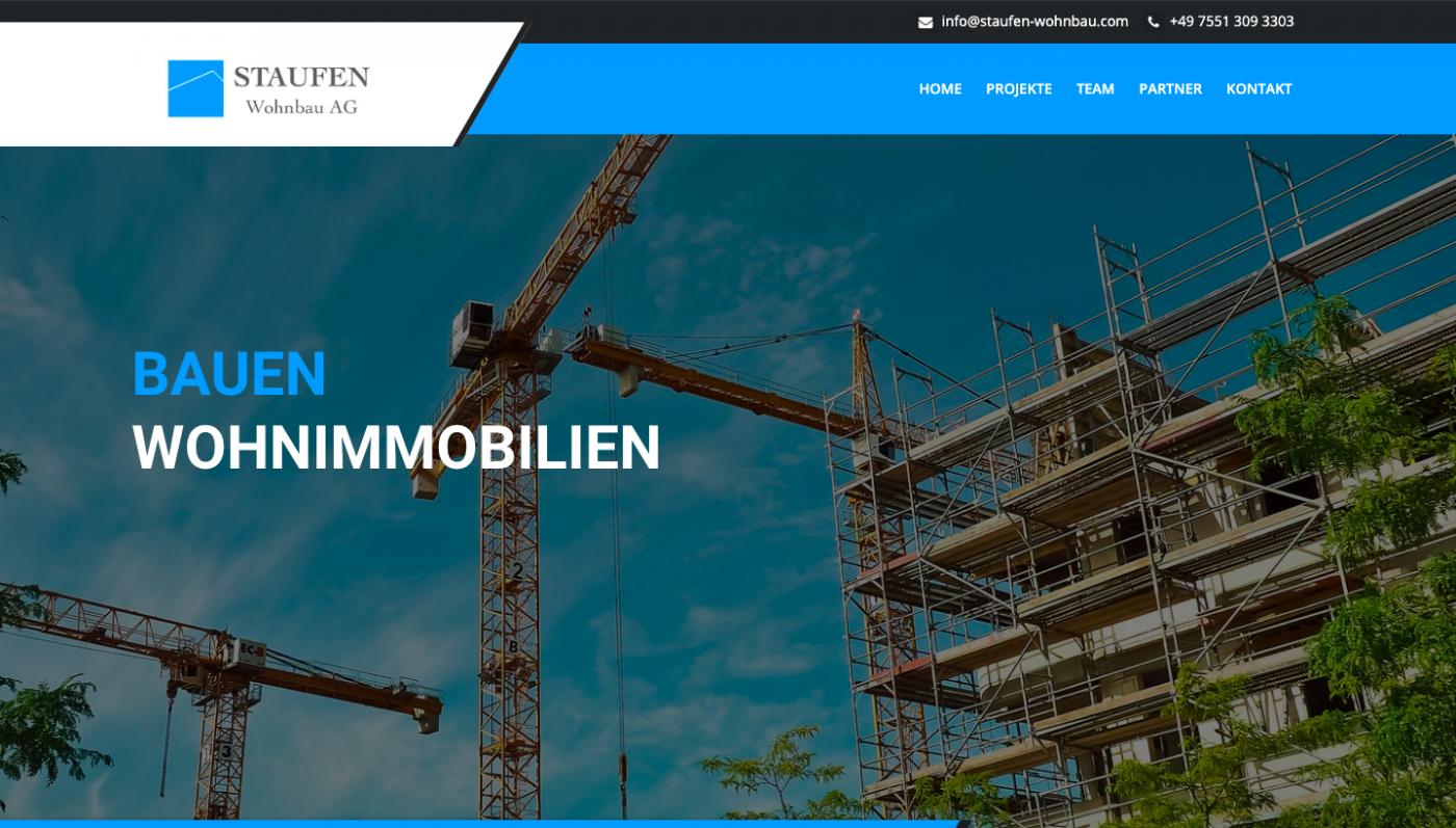 Responsive Webseite - Staufen Wohnbau